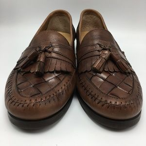 Giorgio Brutini Austin Woven Leather Tassel Loafer